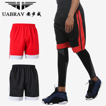 UABRAV Summer Running Shorts Quick Dry Compression Outdoor Basketball Soccer Training Jogging Gym Men Sport Sportwear