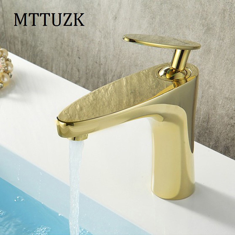 Bathroom Basin Brass Faucet Chrome White Painting Black Painting Golden Faucet Basin Sink Mixer Tap hot