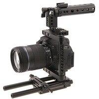 стабилизатор для камеры для фотоаппарата камеры стабилизатор для фотоаппарата CAMVATE Алюминиевый Стержень Rig DSLR Кейдж Топ Ручка Камеры Стаби