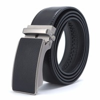 New Designer Popular Luxury Cowhide 100 Genuine Leather Belt Automatic Buckle Business Casual Belts For Men