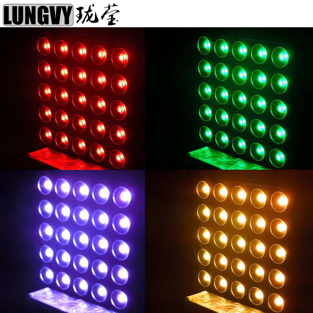 Free Shipping 4pcs/Lot 25*30W RGB Led Matrix Blinder Light DMX512 Led Blinder 5x5 For Dj Effect Light blinder m45 x treme