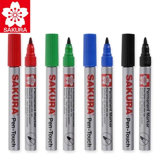 8 Pcs Sakura Wasserdichte Zeichen Universal Permanent Öl Basis Marker Stift Kopf Farbe Lauffläche Haken Linie Durable Sicherheit Japan