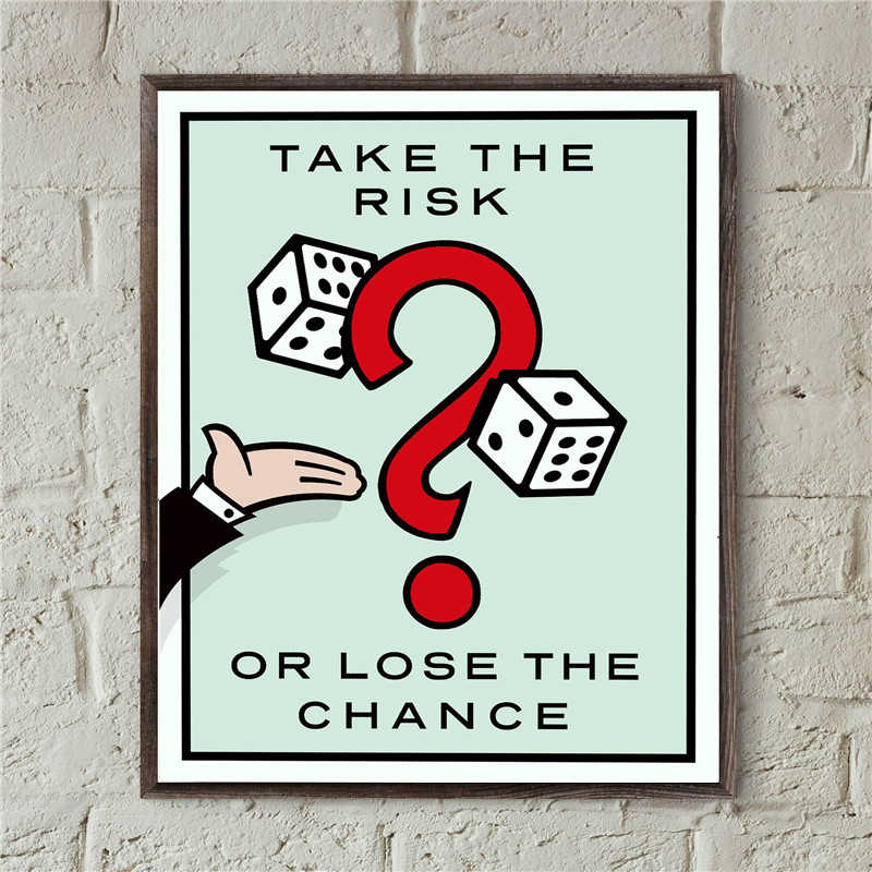 Take The Risk Or Lose The Chance By ALEC Monopolies Canvas Posters Prints Wall Art Painting Decorative Picture Home Decoration