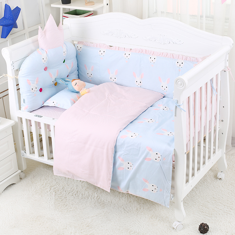 Animal Pattern Baby Bedding Set Infant Soft Bed Around Cot Bed Sheets Cotton Crib Kit For Newborns 6 pcs/set Crib Bedding SetAnimal Pattern Baby Bedding Set Infant Soft Bed Around Cot Bed Sheets Cotton Crib Kit For Newborns 6 pcs/set Crib Bedding Set