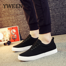 YWEEN Men's Sneakers Lace-Up Classic Style Breathable Canvas Shoes Men Vulcanized Shoes