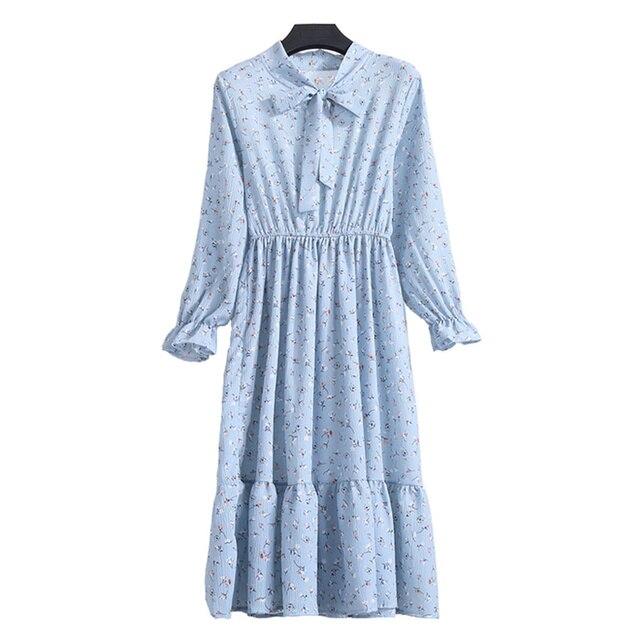 b4c6ad9c329 Шифоновое платье с принтом Для женщин 2018 сезон  весна–лето с длинным  рукавом эластичный