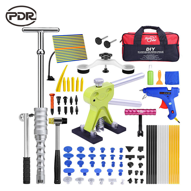 PDR Paintless Dent Repair Auto Repair Tool Automotive Tools Dent Repair Kit Car Body Tool Kit Dent Puller Tool Set 46pcs socket set 1 4 drive ratchet wrench spanner multifunctional combination household tool kit car repair tools set
