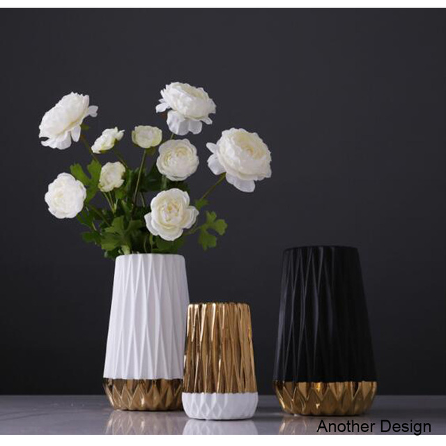 Aliexpress.com : Buy Folding paper flower vases gold black white ...