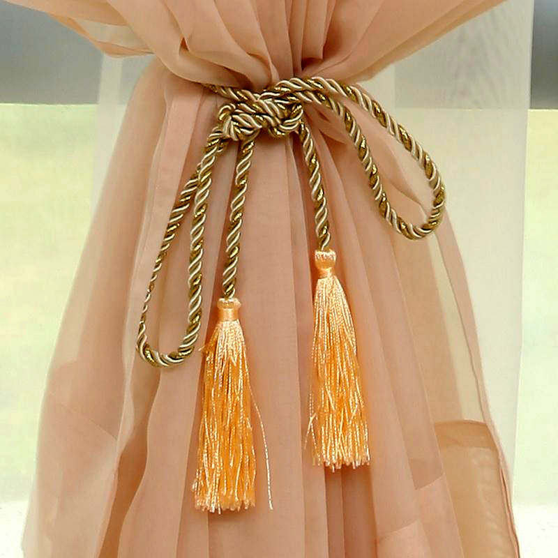 Tassels For Curtains Drapery Curtain Tie Backs Rope Curtain Holdbacks  Fringe Tiebacks Tassels Window Drapes Cortina Accessories