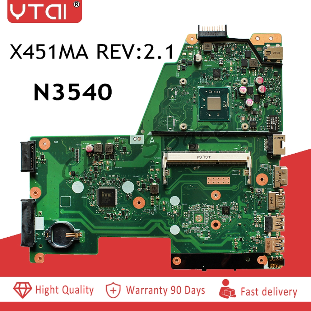 X451MA motherboard N3540 For ASUS X451MA X451M F451M Laptop motherboard DDR3 N3540 CPU X451MA REV 2
