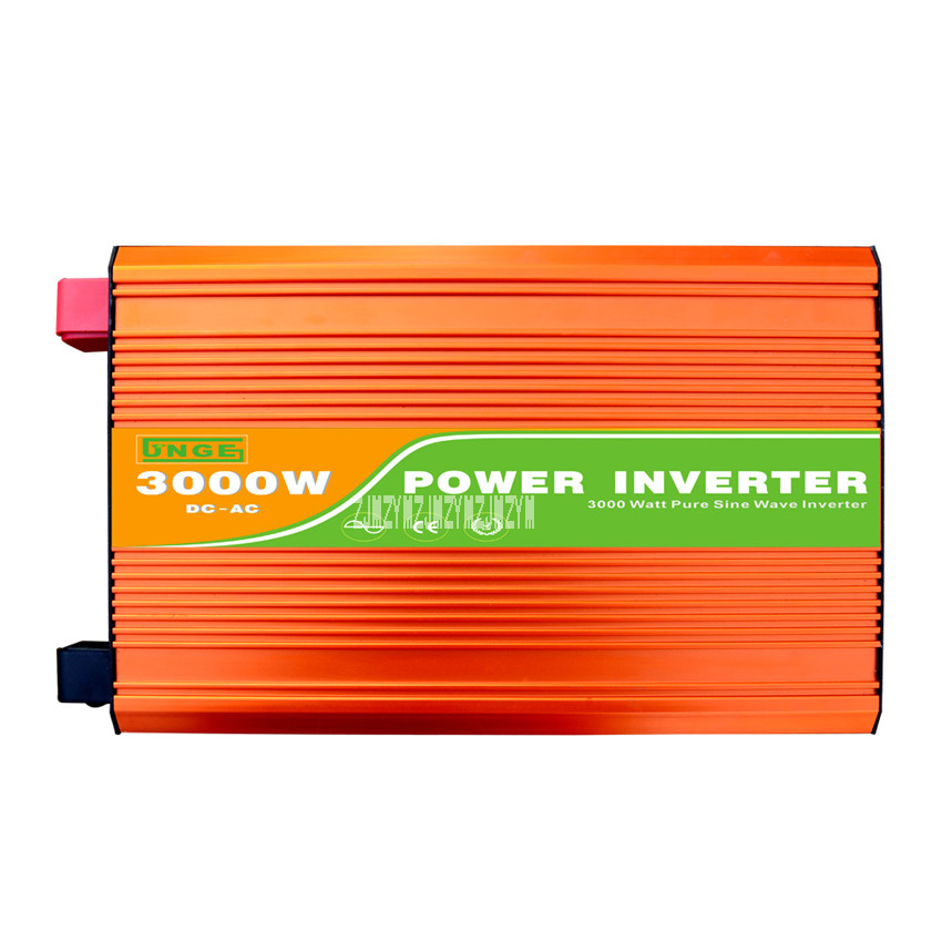цена на Peak 6000W Pure Sine Wave High Frequency Inverter JN-H 3000W 12V/24V/48V/96V to 220V/110V 50Hz/60Hz 3KW Pure Sine Wave Inverter