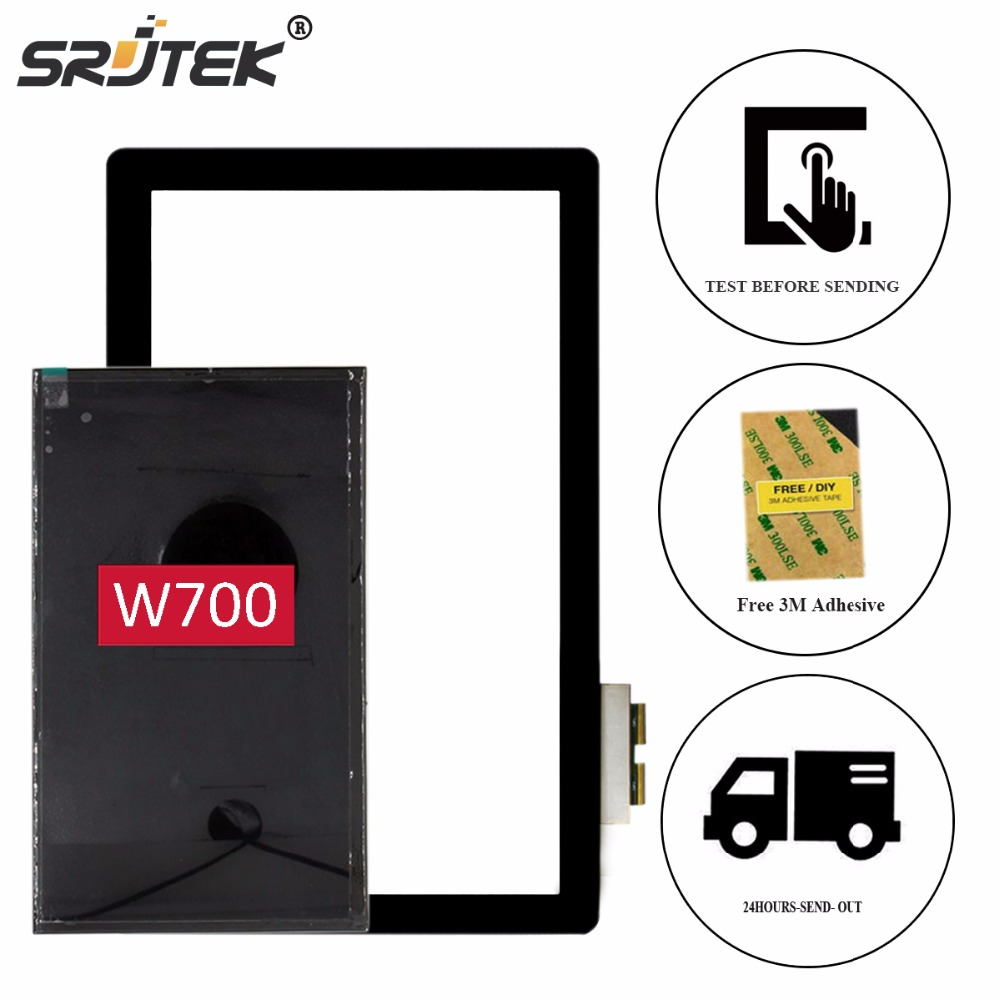 Srjtek 11.6 Parts for Acer Iconia W700 LCD Display Matrix + Digitizer Touch Screen Glass Panel Sensor Tablet PC Replacement original new 10 1 inch touch panel for acer iconia tab a200 tablet pc touch screen digitizer glass panel free shipping