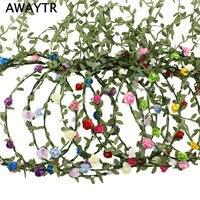 (A-Mieszane Color-9Pcs) Kobiety Dziewczyna Mody Czeski Kwiat Floral Garland Korona Opaski 9 Sztuk/partia Handmade Braid Kwiat z pałąkiem na głowę