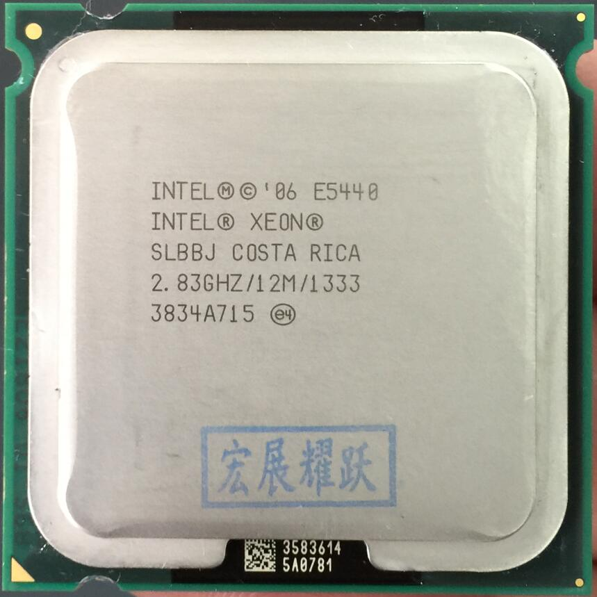 PC ordinateur Intel Xeon E5440 SLBBJ EO Quad-Core Processeur près de LGA775 CPU, fonctionne sur LGA 775 carte mère pas besoin adaptateur