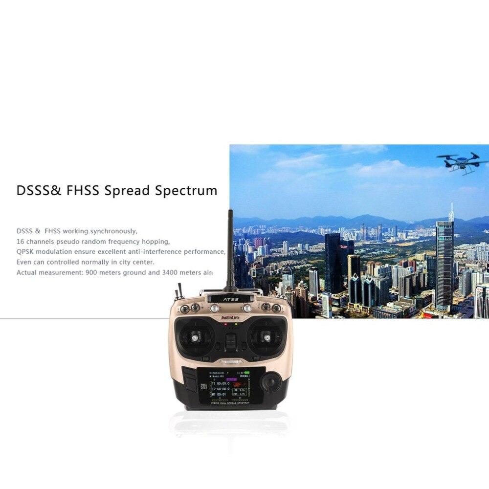 Mise à niveau Radio émetteur Radiolink AT9S 2.4G 10CH avec récepteur R9DS DSSS & FHSS pour hélicoptère RC Multicopter Mode à voilure fixe 2