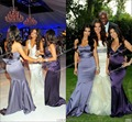 New fashion hot sale sleeveless kim kardashian purple mermaid bridesmaid dress at kim kardashian wedding Celebrity Dresses