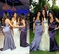 New fashion hot sale sleeveless kim kardashian purple mermaid bridesmaid dress at kim kardashian wedding Celebrity Dresses