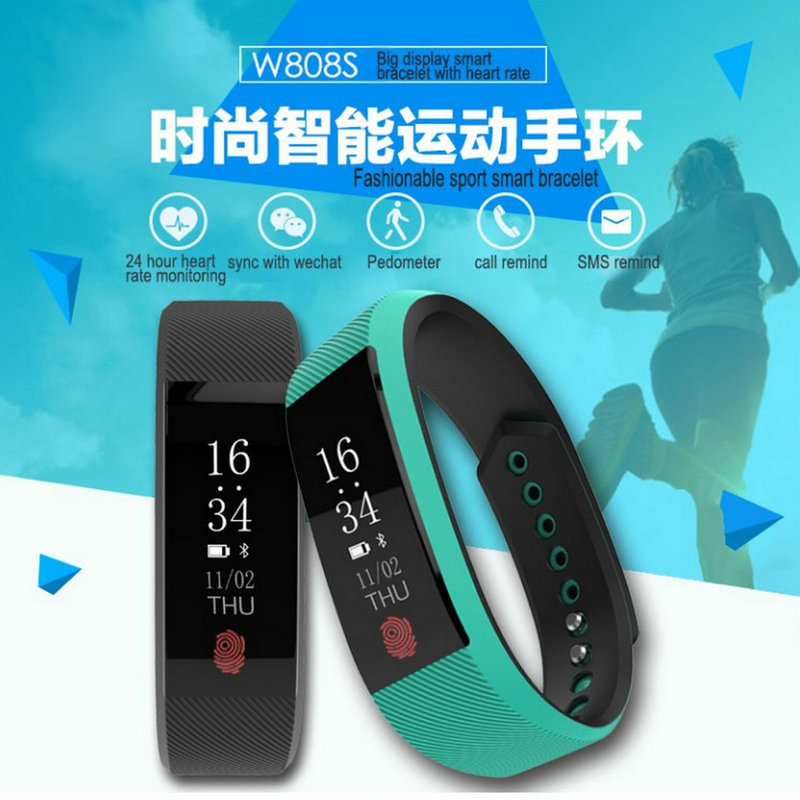 Best fitness bracelet W808S sports bracelet all compatible support heart rate monitor sleep tracker call reminder SMS reminder 12