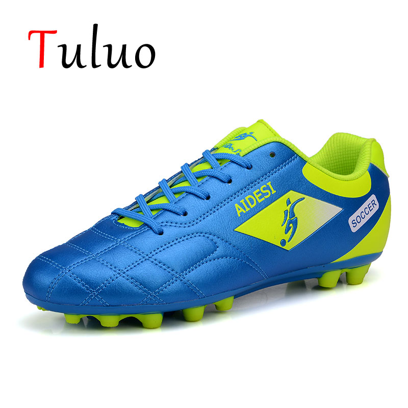 TULUO Mens Women Soccer Shoes Summer Breathable Low Ankle Football Boots Original Cleats Training Sport Male Sneakers Outdoor|Soccer Shoes| |  - title=