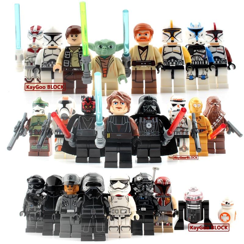 24pcs/lot Classic Star Series Space War Yoda Darth Vader