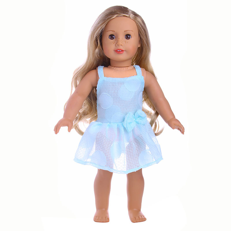 18 Inches American Girl Doll Lace Princess Dress Children BJD Baby Born Dolls Accessories Toy Christmas Birthday Gift Clothes american doll 18 inch girl vinyl baby dolls smiling toys princess cute baby girl doll christmas or birthday gift for children