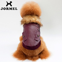 JORMEL 2017 Warm Dog Leather Clothes Pet Casual Dog Coat Jacket Puppy Clothes Padded Clothing Winter