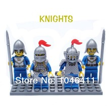 4pcs/lot Lion army  Minifigure fit all brand Building Block doll,Castle Knight Brick accessory WOMA Sluban Decool mini figures