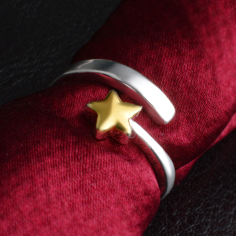 PATICO Hot Sale Adjustable Finger Rings For Girl Lady Women With Cute Yellow Flower Silver Jewelry Hottest Accessories