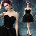 Короткий Сексуальный Черный Милая 2016 девушки Вечернее платье Перо невеста fomarl Свадебные платья партии vestidos де вечер бальные платья