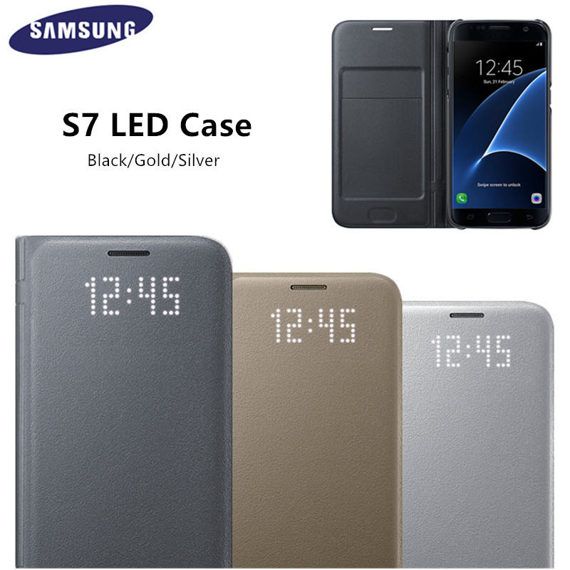 Original LED View Smart Cover Phone Case EF NG930 for Samsung Galaxy S7 S7 edge With