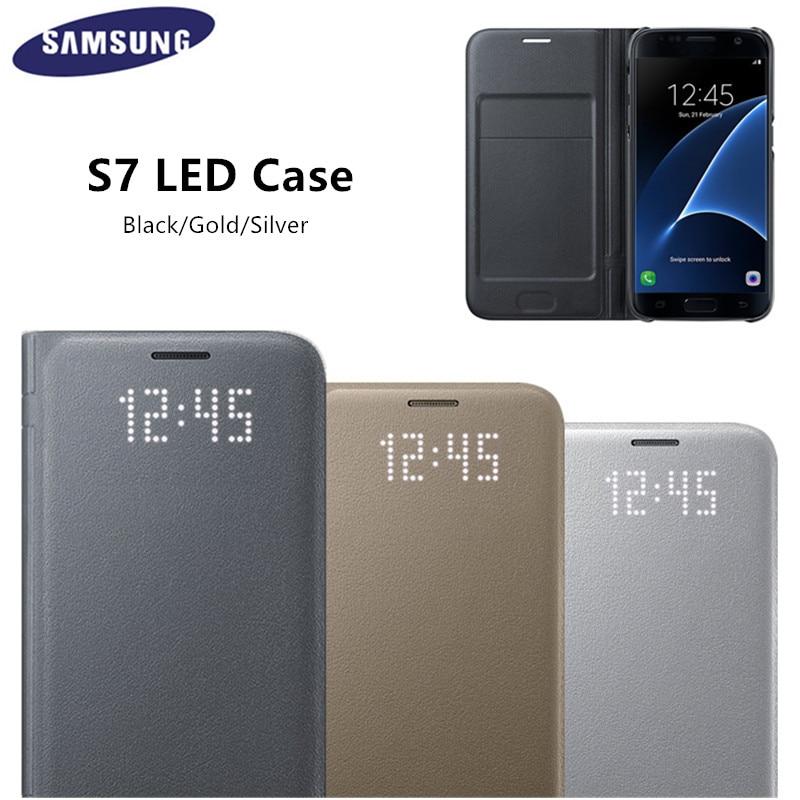 bilder für Original-led anzeigen smart cover telefon case ef-ng930 für samsung galaxy s7/s7 edge mit sleep-funktion