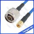 Новый N Тип штепсельная Вилка для RP-SMA Штекерный разъем с RG402 RG141 RG-402 коаксиальный Соединительный синий кабель 8 дюймов 8