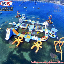 European Standard Strong 0.9mm PVC Customized Inflatable type Aqua park inflatable water adventure