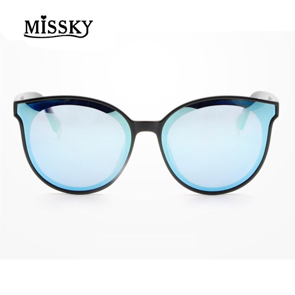 MISSKY Chat Yeux Lunettes De Soleil Polarisées Bleu Lentille Haut de gamme  Conception Chaude Étoiles de beed5338bb4c
