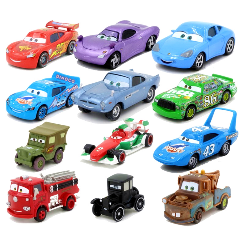 Disney Pixar Cars 3 2 Toys Lightning McQueen The King Holly Francesco Mater 1:55 Diecast Metal Alloy Model Car Kid Gift Boy Toy