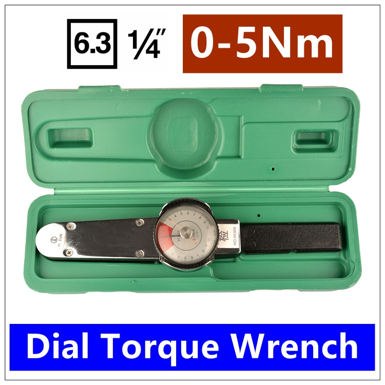 MXITA Mxita tools 1/4 0 5Nm Dial torque spanner High precision pointer torque wrench