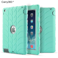 For IPad 4 Case Kids Safe Shockproof Heavy Duty Full Body Rugged Hybrid Protective Silicone Hard