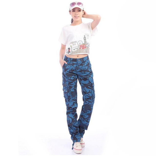 Camouflage Women Pants Fashion Cargo Pants Women Plus Size 2019 Casual Loose Stretch Summer Quality Pants Womens A5304