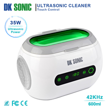 DK SONIC Digital 600ml Touch Control Ultrasonic Cleaner 35W 42KHz Household Ultrasound Bath for Jewelry Watch Chains Eyeglasses