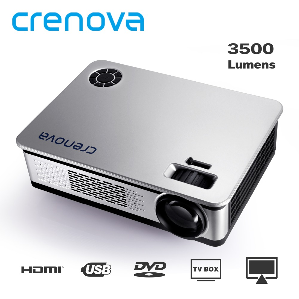 CRENOVA Video Projector For Home Theater Movie Beamer Support 1920*1080p with AV VGA HDMI USB SD AUDIO 3500 Lumens Proyector