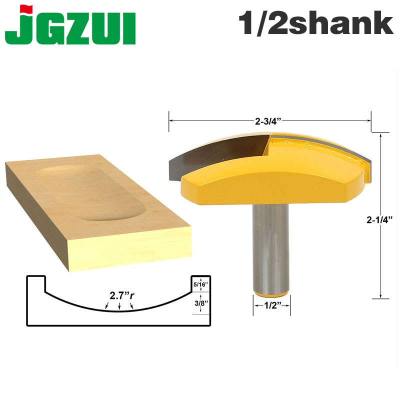 "1pc 1/2"" Shank 12mm shank Large Bowl Router Bit   2.7"" Radius   2 3/4"" Wide For Woodworking Cutting ToolMilling Cutter   -"