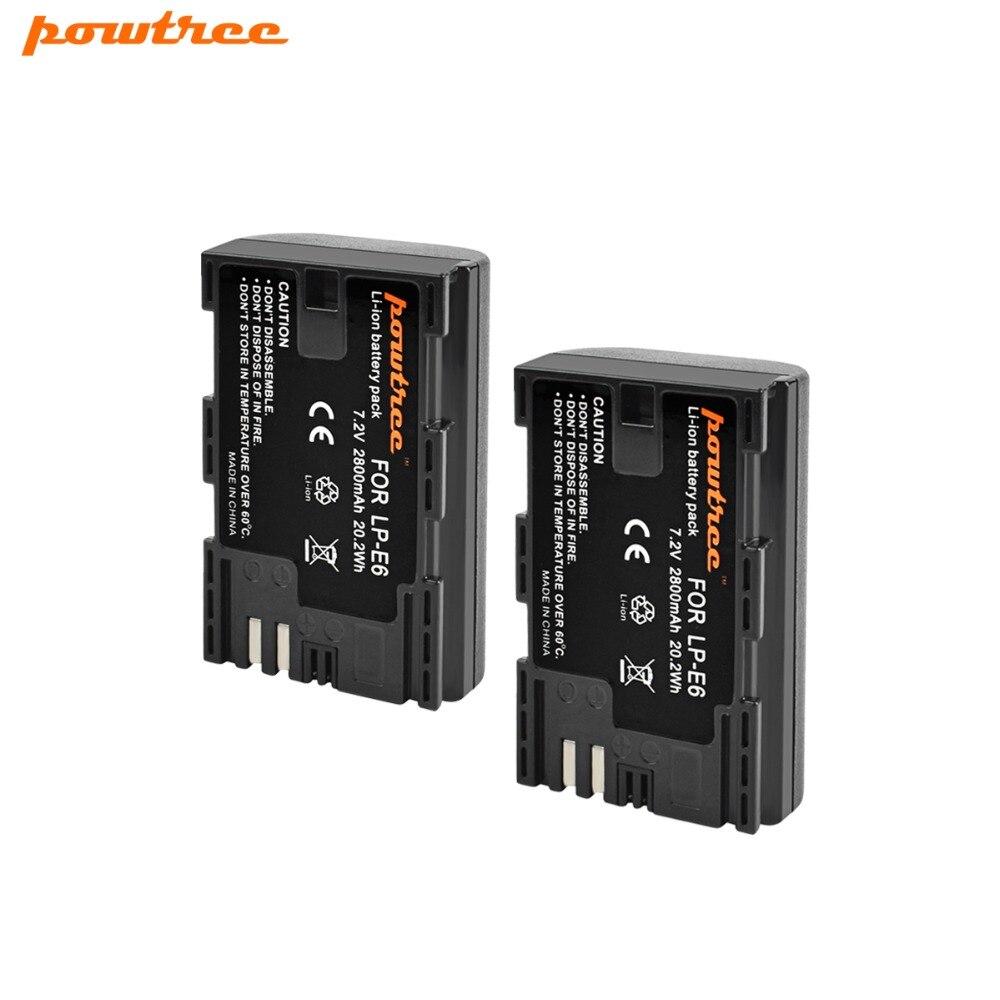 2X Caméra Batterie De LP-E6 LPE6 LP E6 Pour Canon 5D Mark II Mark III EOS 6D 7D 60D 60Da 70D 80D DSLR L15