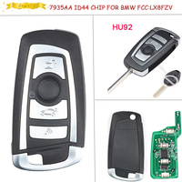 KEYECU EWS Modified Flip Remote Key 4 Button 315MHZ 433MHZ With 7935AA ID44 Chip HU92 Blade