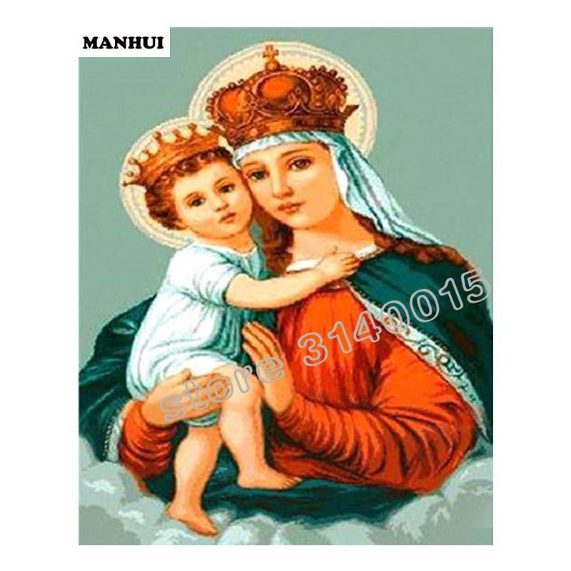 Saint mather et fils diamant mosaïque strass plein carré bricolage Diamant peinture point de croix icône ensemble diamant broderie BEF358