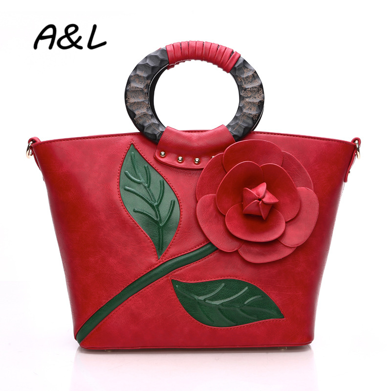 2016 Women Bag Famous Brand Handbag Women Messenger Bags Leather Shoulder Bag Vintage Flower Big Size Tote Bolsas Feminina A0204 fashion women handbag pu leather women bag large capacity tote bag big ladies shoulder bags famous brand bolsas feminina