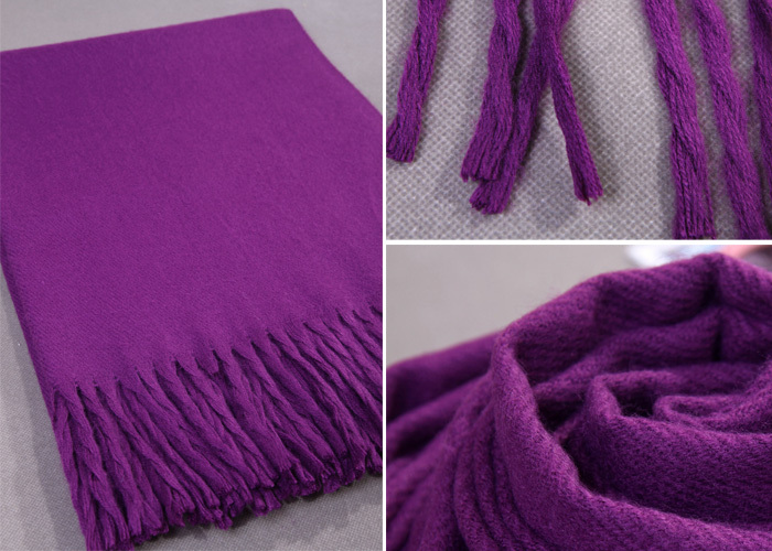 Purple New Large Long Cashmere Pashminas Craves Europe and America Winter Women's Shawl Scarf  Warm Wrap Multicolor S300-11