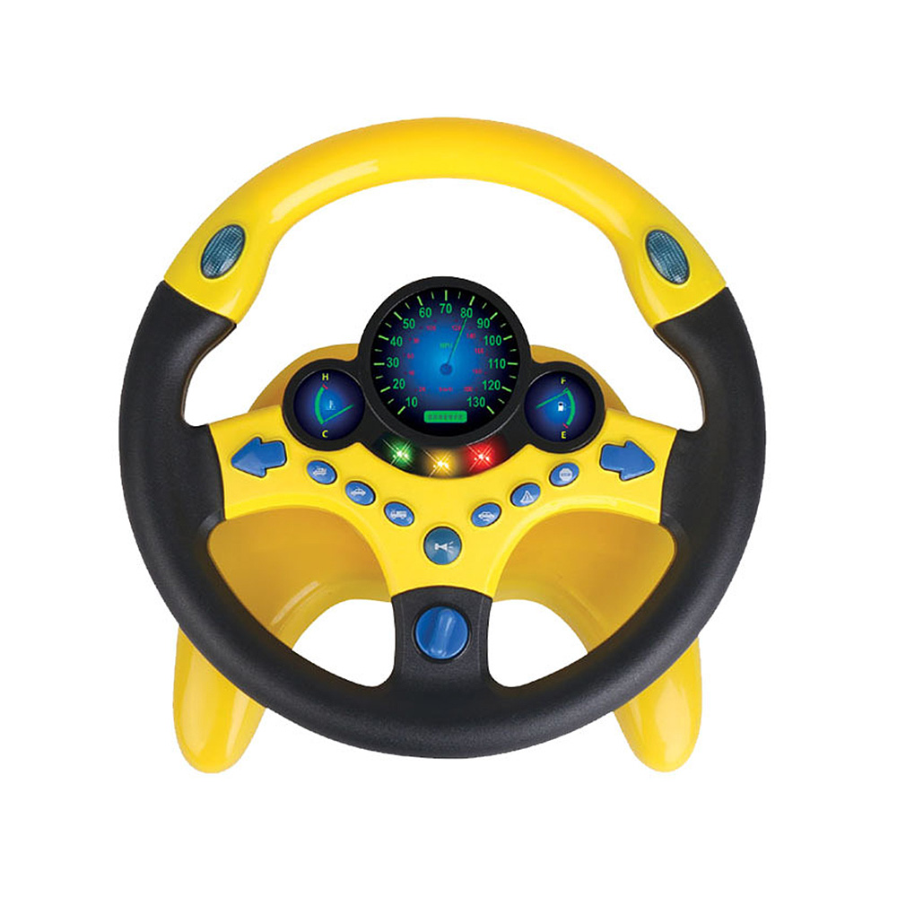 Simulation Steering Wheel with Light Baby Musical Developing Educational Toys Electronic Vocal Toys for Children Birthday Gifts|Toy Walkie Talkies|   -