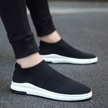 Krasovki erkek Nefes Slipony Sapato Erkek Ayakkabı Yetişkin Örgü Tenis rahat ayakkabılar Chaussures Hommes Zapatos Hombre Herenschoenen