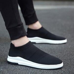 Image 1 - Krasovki erkek Nefes Slipony Sapato Erkek Ayakkabı Yetişkin Örgü Tenis rahat ayakkabılar Chaussures Hommes Zapatos Hombre Herenschoenen