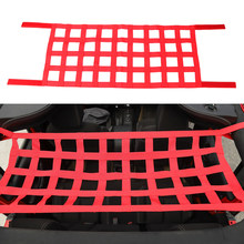 Black Red Car Top Roof Storage Hammock Bed Car Roof Top Soft Cover Rest Bed Hammock for Jeep Wrangler JK 07-19 Car Accessories(China)
